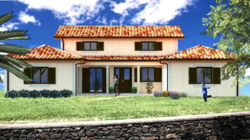 T4 en RDC - extension pièce de vie - Mérignac 149.62 m² - Rendu 3D