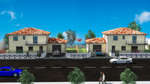 Double T4 en R+1 - Mont de Marsan 146.26 m² - RENDU 3D