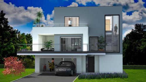 T4 en R+2 - Audenge 134.64 m² - Rendu 3D