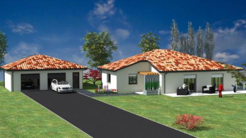 Double garage - Saint Médart en Jalles 57.24 m² - Rendu 3D